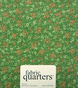 Quarters Cotton Fabric-Assorted Green