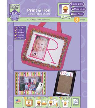 Purple Chimp Print and Iron Cotton Fabric Sheets