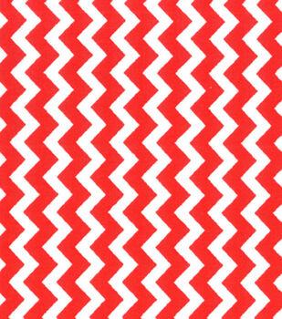 Quilter's Showcase™ Cotton Fabric-Chevron Red/White