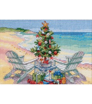 Gold Collection Petite Christmas On The Beach Counted Cross Stitch Kit