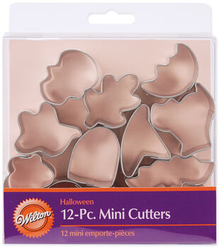 Wilton® Mini Metal Cookie Cutter Set 12/Pkg-Halloween