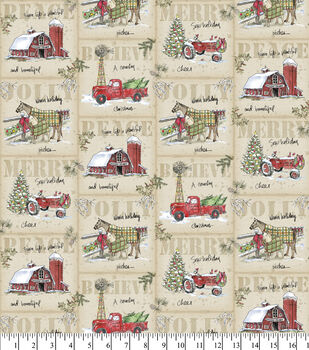 Christmas Cotton Fabric-A Country Christmas