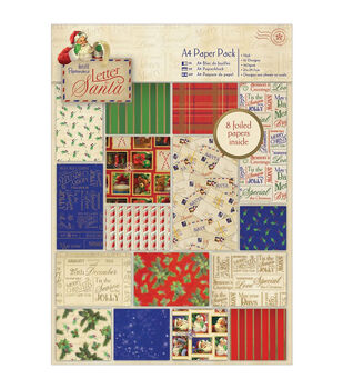 Papermania A4 Paper Pack 32/Pkg-Letter To Santa
