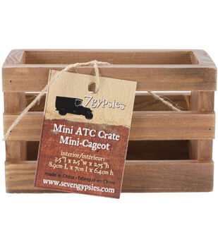 """Wooden Photo Crate 4.75""""X3""""X2.75"""" -Stained"""