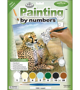 Royal Langnickel Junior Paint By Number Kit Leopard