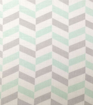 Nursery Fabric-Blue/Gray Broken Chevron Swaddle
