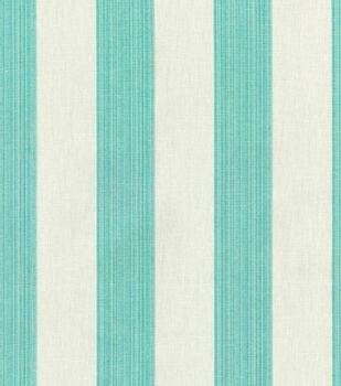 Home Decor 8''x 8'' Swatch Fabric-Williamsburg Stratford Stripe Peacock
