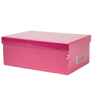 DCWV Pink with Gold Dots Storage Box