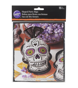 Wilton® Shaped Party Bags 15/Pkg-Deadly Soiree