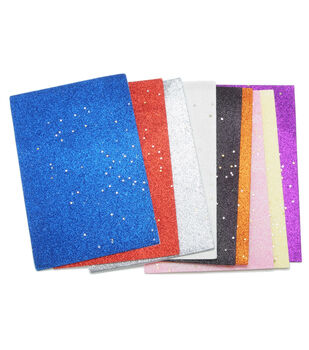 Foamies Value Pack Sheets-Sticky Glitter/Confetti Basics 6 x 9
