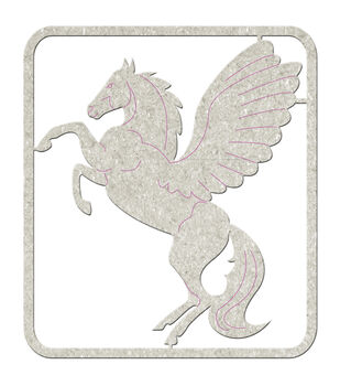 Fabscraps Pegasus - Die-Cut Chip Embellishments