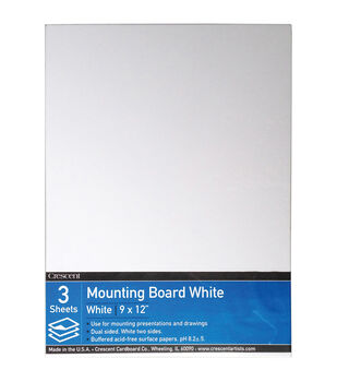 Crescent White Mounting Board Value Pack 9''x12''