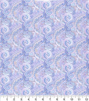 Made in America Cotton Fabric-Shabby Chic Paisley Purple, , hi-res