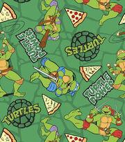 Nickelodeon Teenage Mutant Ninja Turtle Turtle Power Flannel Fabric, , hi-res