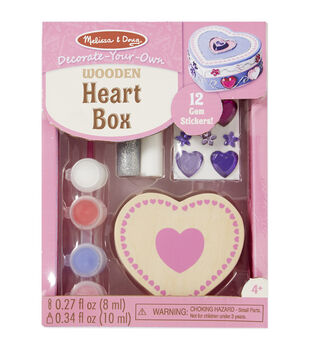 Melissa & Doug Decorate-Your-Own Wooden Chest-Heart