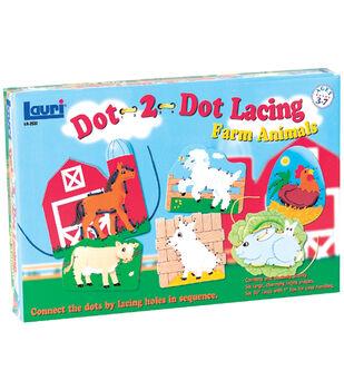 Dot-2-Dot Lacing Kit-Farm Animals