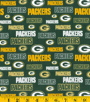Green Bay Packers NFL Glitter Cotton Fabric by Fabric Traditions, , hi-res