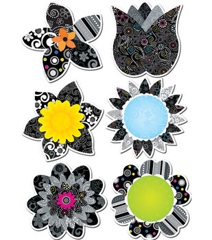 """BW Flowers 6"""" Designer Cut-Outs"""