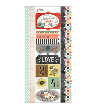 Adorn-It Chamberry Cardstock Stickers Good Life