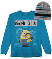 Minion Genius Long Sleeved Shirt with Hat, , hi-res