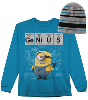 Minion Genius Long Sleeved Shirt with Hat