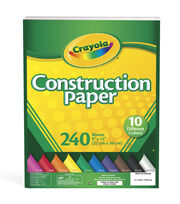 "Crayola Construction Paper Pad 9""X12""- 240 Sheets/Pkg, , hi-res"
