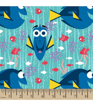 Finding Dory Flannel Fabric-Happy Dory