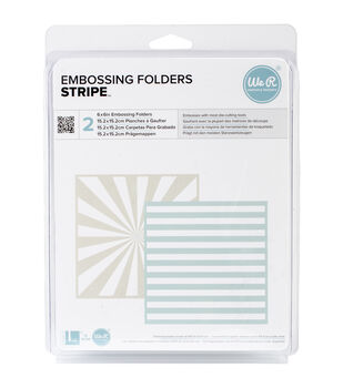 "Goosebumpz 6""X6"" Embossing Folder 2/Pkg-Stripe"