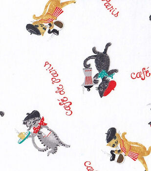 Snuggle Flannel Fabric-Cafe De Paris