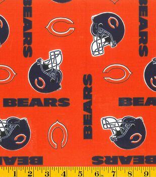 Chicago Bears NFL Orange Cotton by Fabric Traditions