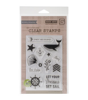 Basic Grey Adrift Set Sail Clear Stamps