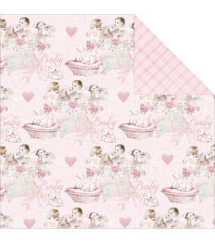 Fabscraps Royal Baby Baby Girl Double-Sided Cardstock