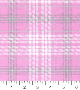 Nursery Flannel Fabric-Madison Sweet Pink Plaid