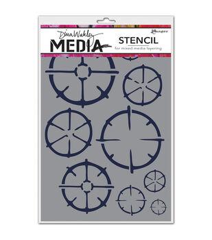Ranger Dina Wakley Wheels Media Stencils