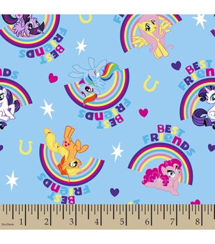 My Little Pony Rainbow Cotton Fabric
