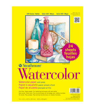 "Strathmore Watercolor Paper Classpack 9""X12""-140lb Cold Press 24 Sheets"