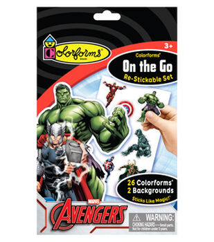Marvel Avengers Colorforms® On the Go Re-stickable Playset