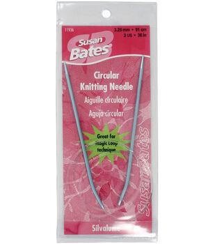 Susan Bates-Silvalume Circular Knitting Needles 36-Size 3