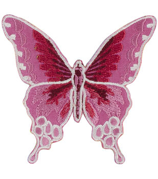 Patches For Everyone Iron-On Appliques-Pink Butterfly