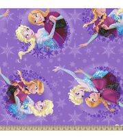 Disney Frozen Sisters Skating Fleece Fabric, , hi-res