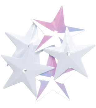 Sequin Star Wht Iris