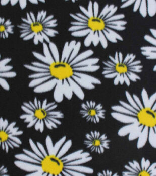 Blizzard Fleece Fabric-Daisies