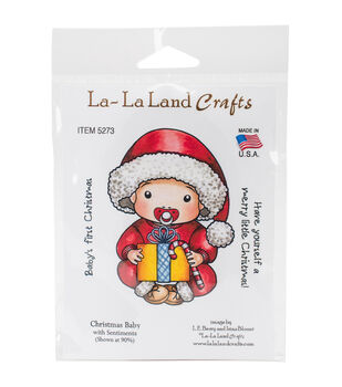 La-La Land Crafts Cling Stamps-Christmas Baby