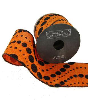 Maker's Halloween 2.5'' X 12' Ribbon-Dot Wave