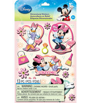 Disney Dimensional Stickers-Mickey Family Girls, , hi-res