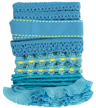 Trim Multi Pack Blue Jewel 6 Designs 1 Yard Each
