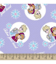 Disney® Frozen Follow Your Heart Flannel Fabric, , hi-res