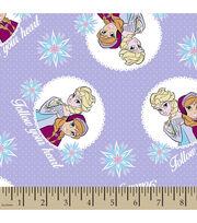 Disney® Frozen Follow Your Heart Flannel Fabric, , hi-res