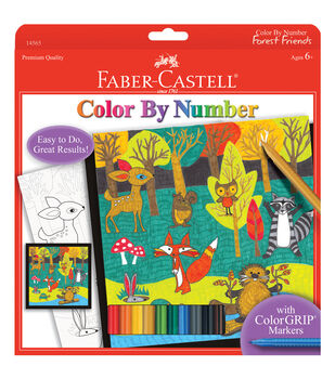 """Color By Number Kit 9""""X9""""-Forest Friends"""