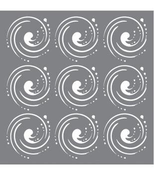 DecoArt Andy Skinner Mixed Media Whirlpool Stencil 6''x6''
